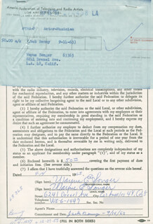 WAYNE E. SONGER - DOCUMENT SIGNED 09/14/1963