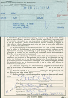 MICHAEL HILL - DOCUMENT SIGNED 09/23/1962