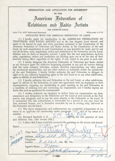 WILLIAM LUNDY - DOCUMENT SIGNED 11/30/1953