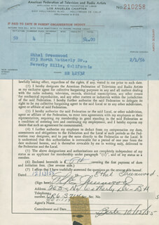ETHEL E. GREENWOOD - DOCUMENT SIGNED 12/13/1955