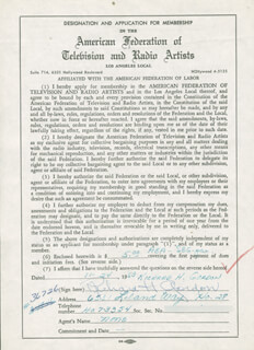 DICK GORDON - DOCUMENT SIGNED 11/24/1953