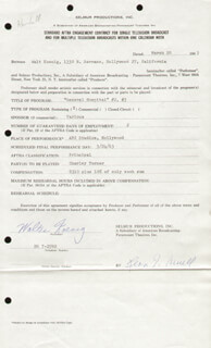 WALTER KOENIG - CONTRACT SIGNED 03/20/1963