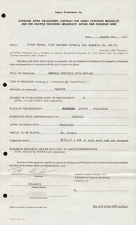 PETER MARKO - CONTRACT SIGNED 08/26/1965