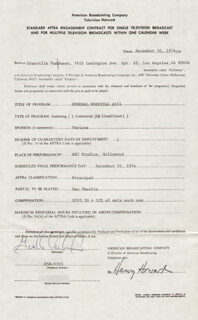 GRANVILLE VAN DUSEN - CONTRACT SIGNED 12/20/1974