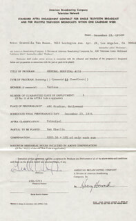 GRANVILLE VAN DUSEN - CONTRACT SIGNED 12/23/1974