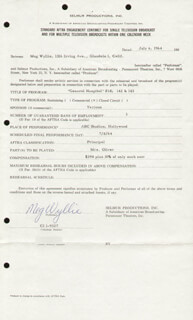 MEG WYLLIE - CONTRACT SIGNED 07/06/1964