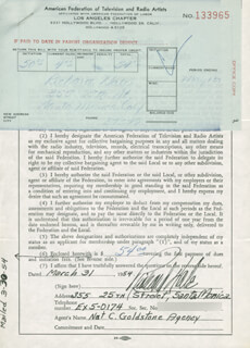 RICHARD HALE - DOCUMENT SIGNED 03/31/1954