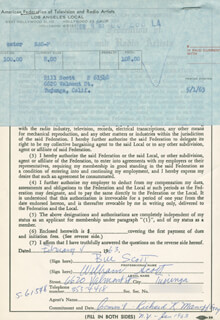 BILL SCOTT - DOCUMENT DOUBLE SIGNED 02/04/1963