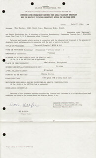 DON KEEFER - CONTRACT SIGNED 07/27/1964