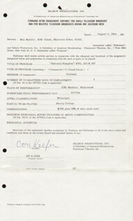 DON KEEFER - CONTRACT SIGNED 08/03/1964