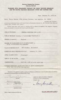 BYRON MORROW - CONTRACT SIGNED 01/27/1975
