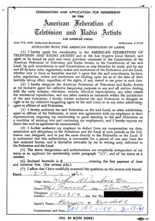 JOHN WARBURTON - DOCUMENT SIGNED 03/17/1961