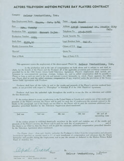 OPAL EUARD - CONTRACT SIGNED 10/01/1964
