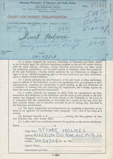STUART HOLMES - DOCUMENT SIGNED