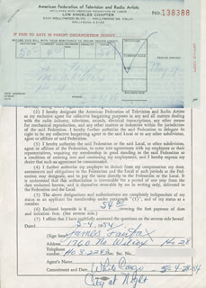 JAMES FAIRFAX - DOCUMENT SIGNED 05/04/1954
