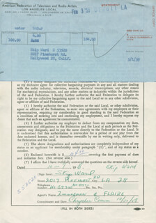 SKIP WARD - DOCUMENT SIGNED 10/07/1958