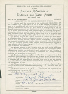 MARY BENOIT - DOCUMENT SIGNED 01/10/1953