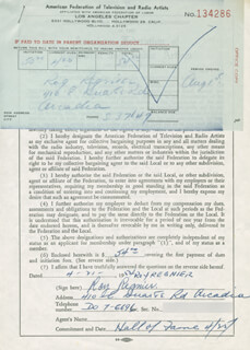 ROY REGNIER - DOCUMENT SIGNED 04/21/1952