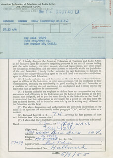 FAY WALL - DOCUMENT SIGNED 05/08/1955