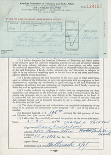 SHARON ANN JACKSON - DOCUMENT SIGNED 03/08/1954