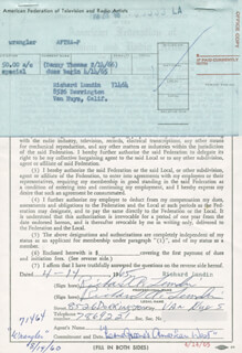 RICHARD A. LUNDIN - DOCUMENT SIGNED 04/14/1965
