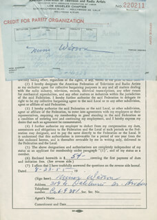 MINOR WATSON - DOCUMENT SIGNED 08/23/1955