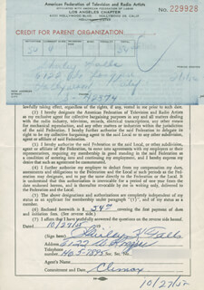 SHIRLEY FALLS - DOCUMENT SIGNED 10/27/1955