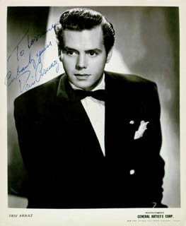 DESI ARNAZ SR. - AUTOGRAPHED INSCRIBED PHOTOGRAPH