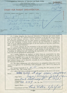 ANN GRACE KAUFMAN - DOCUMENT SIGNED 06/23/1955