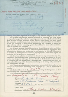ANITA KING - DOCUMENT SIGNED 08/15/1956