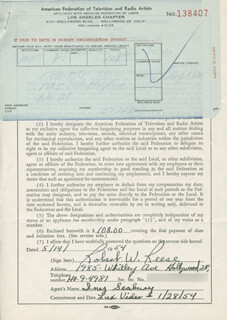 ROBERT W. REESE - DOCUMENT SIGNED 05/14/1954