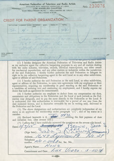 SADA S. (SIMMONS) BROWN - DOCUMENT SIGNED 11/07/1955