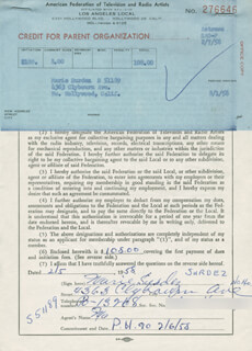 MARIE SURDEZ - DOCUMENT SIGNED 02/05/1958
