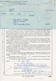 STAN YOUNG - DOCUMENT SIGNED 03/02/1959