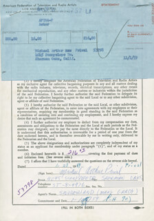 MICHAEL ARTHUR PRIVAL - DOCUMENT SIGNED 01/23/1959