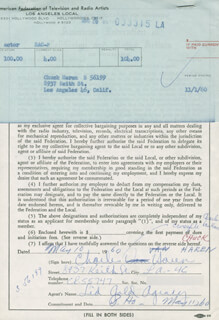 CHARLES CHUCK HAREN - DOCUMENT SIGNED 05/10/1960