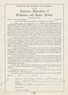 BETTY LOU MILLER - DOCUMENT SIGNED 01/27/1953