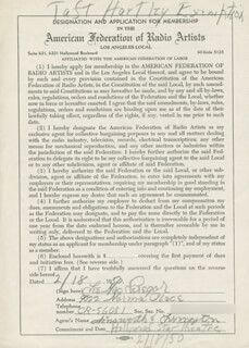 LEE MacGREGOR - DOCUMENT SIGNED 02/18/1950