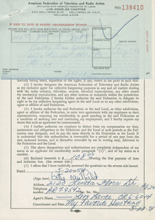 BETTY CAULFIELD - DOCUMENT SIGNED 05/20/1954