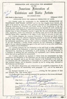 DAN (DONALD E.) KEMP - DOCUMENT DOUBLE SIGNED 08/22/1966