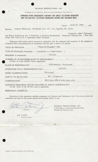 ARTHUR PETERSON - CONTRACT SIGNED 04/15/1964