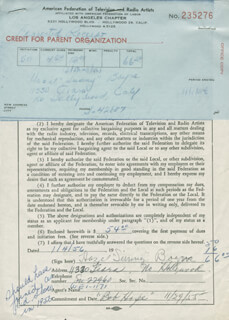 HAZEL SUNNY BOYNE - DOCUMENT SIGNED 01/04/1956
