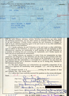 RANDY HERRON - DOCUMENT DOUBLE SIGNED 05/09/1962