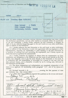 GENE BOLAND - DOCUMENT SIGNED 05/25/1966