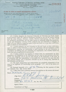 ETHEL SWAY - DOCUMENT SIGNED 03/11/1955