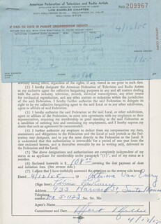 PATRICIA VAN EVERY - DOCUMENT SIGNED 04/12/1955