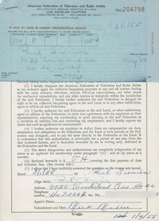 PAUL SIEMION - DOCUMENT SIGNED 03/01/1955