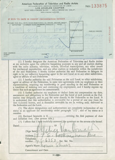 ARCHER MACDONALD - DOCUMENT SIGNED 05/01/1959