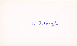 ASSOCIATE JUSTICE WILLIAM O. DOUGLAS - AUTOGRAPH