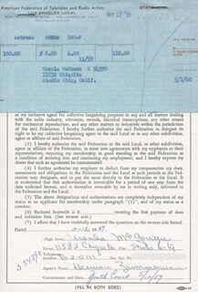 URSULA MCGOWAN - DOCUMENT SIGNED 10/12/1959